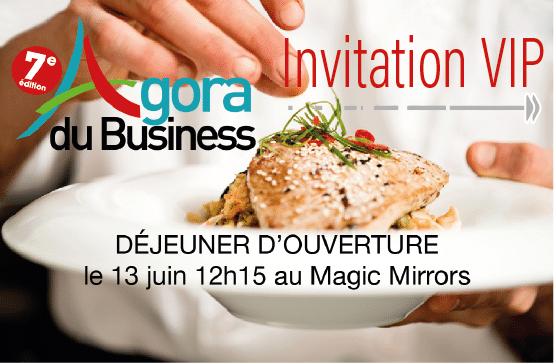 Inscrivez-vous au déjeuner d'ouverture de l'Agora du Business